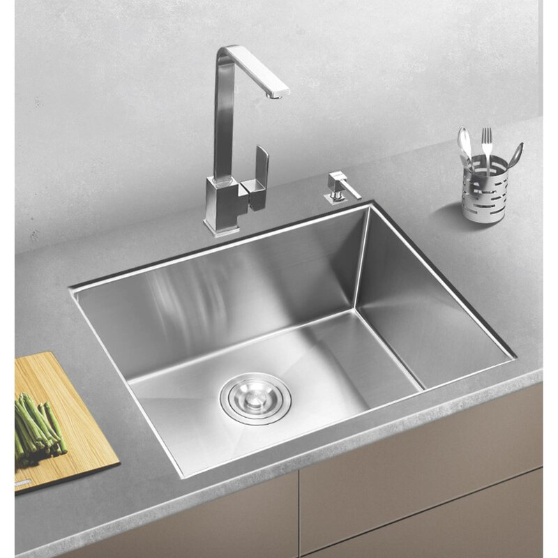 Hhk Home Stainless Steel Handmade 23 L X 18 W Undermount Kitchen Sink Wayfair