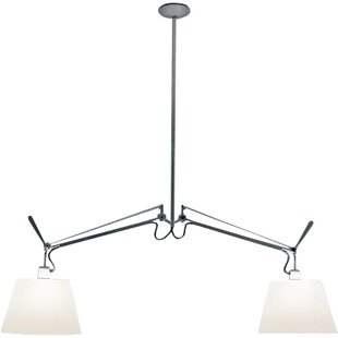 Artemide Tolomeo Double Suspension 2-Light Kitchen Island Pendant