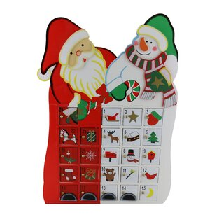 Santa Claus and Snowman Advent Calendar Countdown to Christmas by The Holiday Aisle