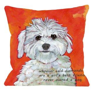 Doggy Girl'S Best Friend Throw Pillow