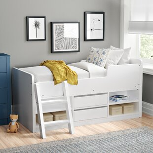 Mckinley Single Mid Sleeper Bed With Drawers And Bookcase By Zipcode Design