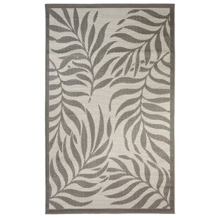 Purchase Caillo Tropical Light Gray/Anthracite Indoor/Outdoor Area Rug By Bay Isle Home