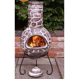 Cantera Clay Wood Burning Chiminea By Gardeco