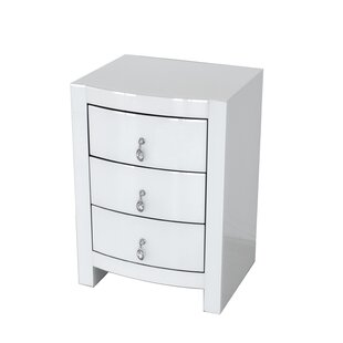 Juno Curved 3 Drawer Nightstand
