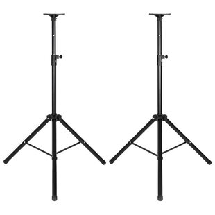 DJ PA Tripod Adjustable Height Speaker Stand Set of 2 by 17 Stories