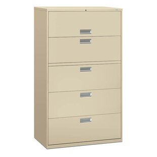 HON Brigade 600 Series 5-Drawer Lateral Filing Cabinet