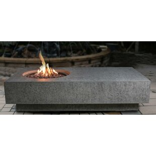 Homestyle Collection Metropolis Concrete Fire Pit Table