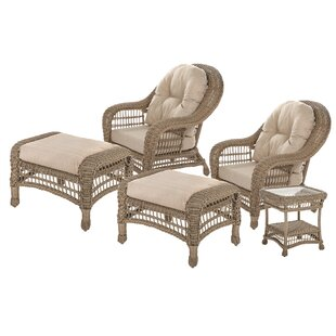 Runion Garden 5 Piece Seating Group with Cushions