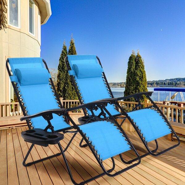 Prime Kempst Zero Gravity Reclining Sun Lounger Set Machost Co Dining Chair Design Ideas Machostcouk