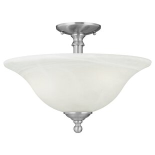 Baum 3-Light Semi Flush Mount by Charlton Home