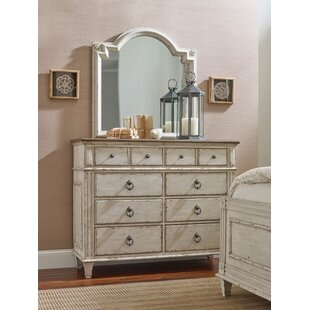 Dicha Bureau 8 Drawer Double Dresser with Mirror