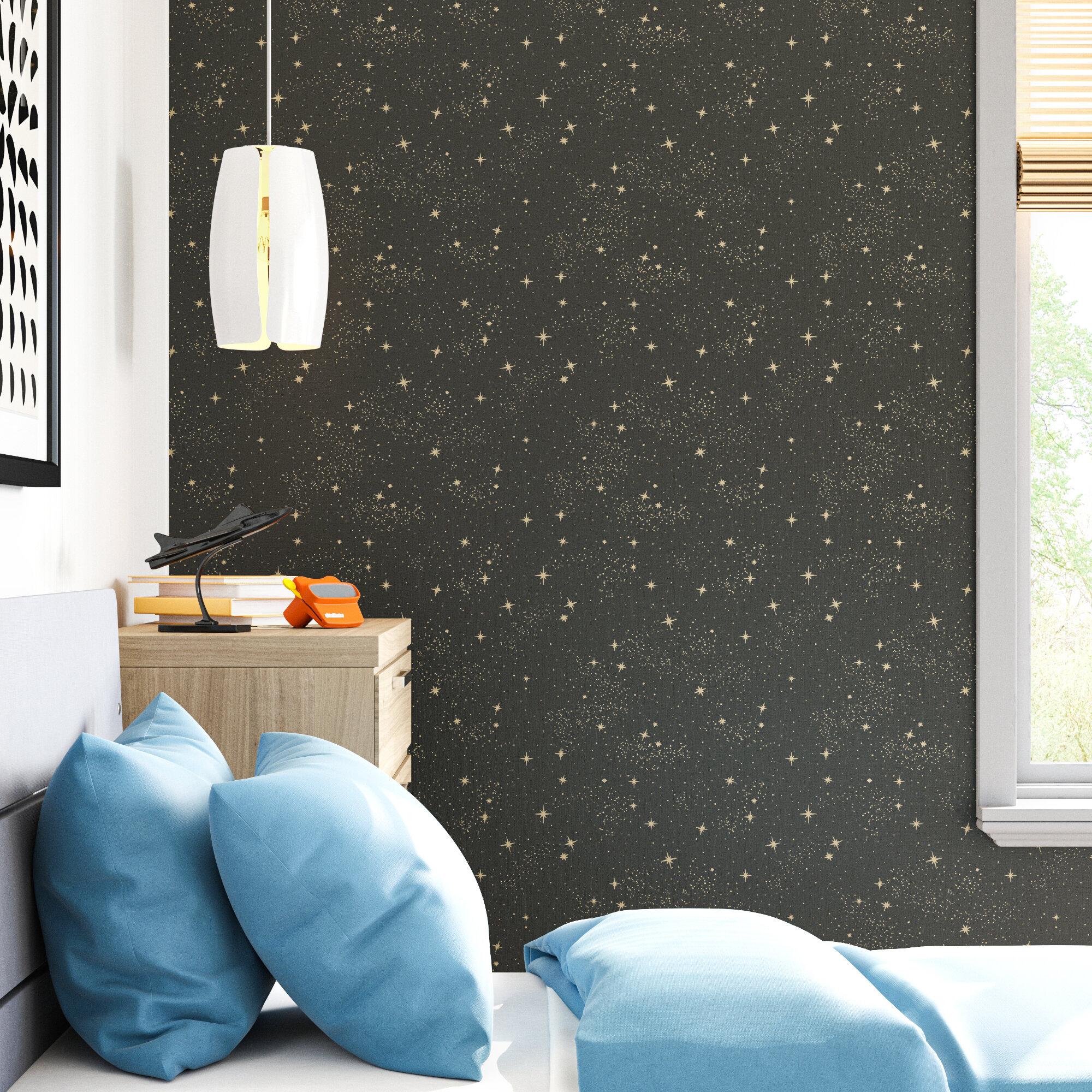 Clouds Moon Stars Sky Wallpaper Wayfair