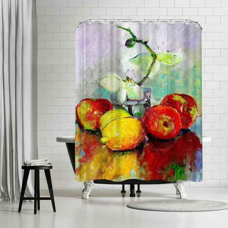 East Urban Home Suren Nersisyan Fruits And Orchid Single Shower Curtain Wayfair