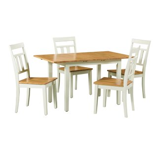 Shipe 5 Piece Extendable Solid Wood Dining Set