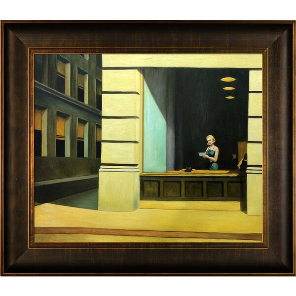 La Pastiche New York Office 1962 By Edward Hopper Framed Painting Print Wayfair Ca