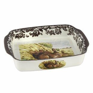 Woodland Rectangular Handled Lasagne Rabbit Baking Dish