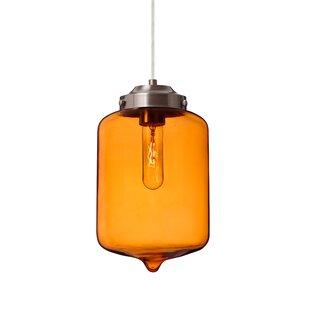 Olin 1-Light Jar Pendant by Besa Lighting