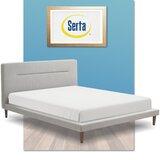Sierra Upholstered Platform Bed by Serta at Home