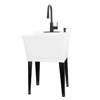 E L Mustee Son Utilatwin 40 X 24 Wall Mounted Laundry Sink Wayfair Ca