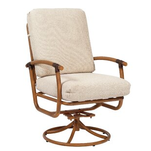 Glade Isle Rocker Swivel Patio Dining Chair with Cushion
