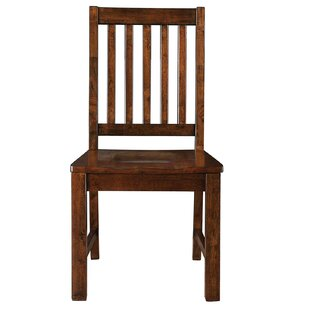 Nashoba Solid Wood Dining Chair by Loon Peak Coupon