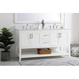 Faribault 60 Double Bathroom Vanity Set