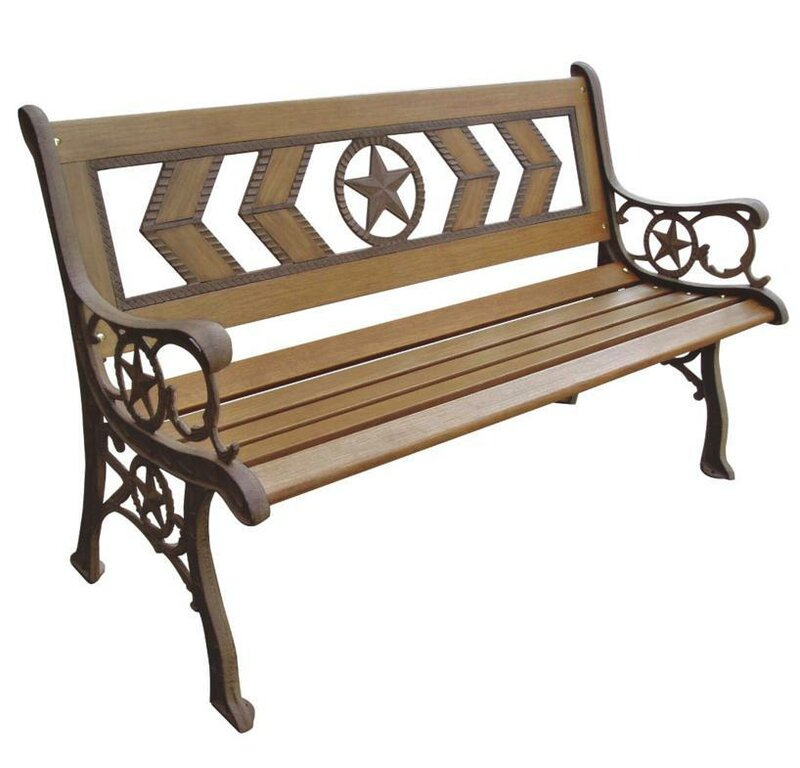 Texas Wood And Metal Park Bench Reviews Joss Main