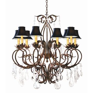 2nd Ave Design Felicia 10-Light Shaded Chandelier
