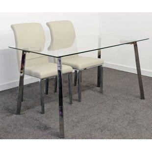 Desborough Dining Set With 2 Chairs By Metro Lane