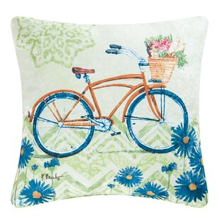 Bicycle Indoor/Outdoor Throw Pillow