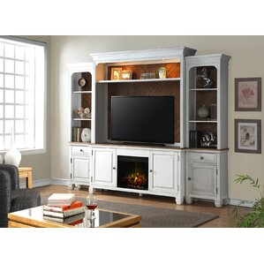 Bargain Rosecliff Heights Heron Entertainment Center with Fireplace
