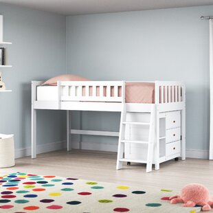Erastus Twin Low Loft Bed with 3 Drawers