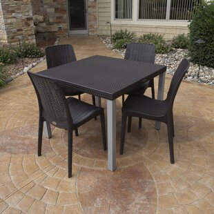 Brayden Studio Loggins 5 Piece Dining Set