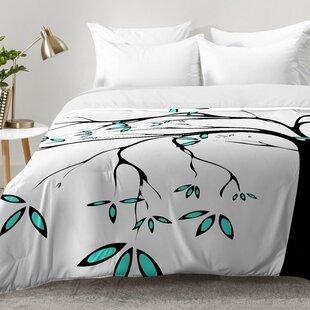 East Urban Home Garden Delight Aqua Breeze Comforter Set