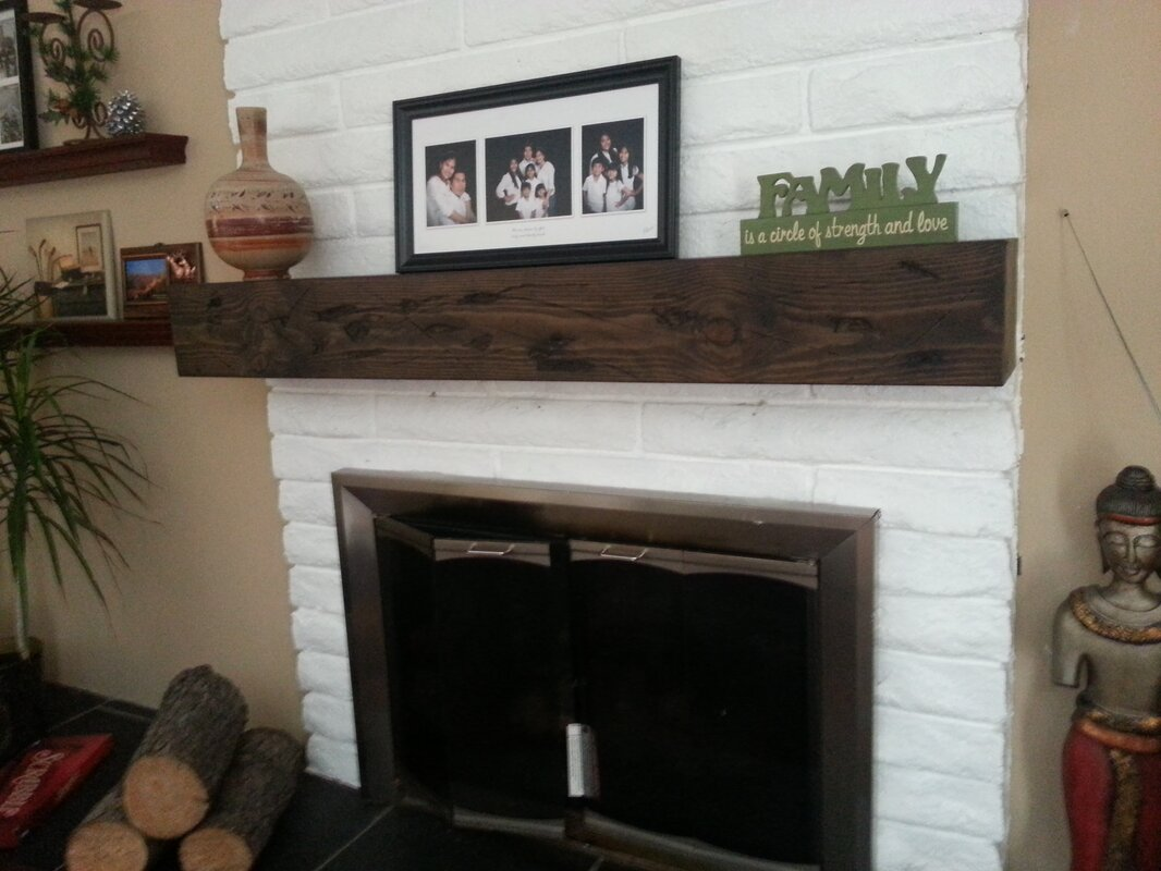 Rustic Fireplace Mantel Shelf Midwood Designs  Reviews Wayfair