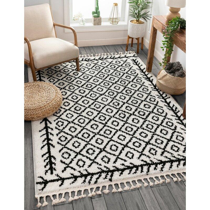 Well Woven Cabana Geometric Black White Area Rug Reviews Wayfair