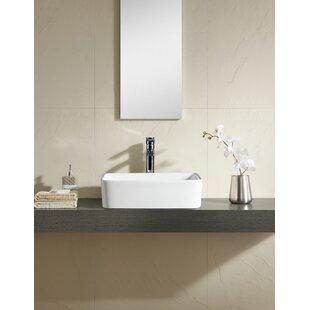 Purchase Ceramic Rectangular Vessel Bathroom Sink ByFine Fixtures