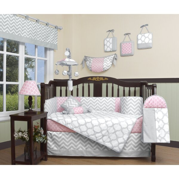 Geenny Chevron Piece Crib Bedding Set Reviews Wayfair