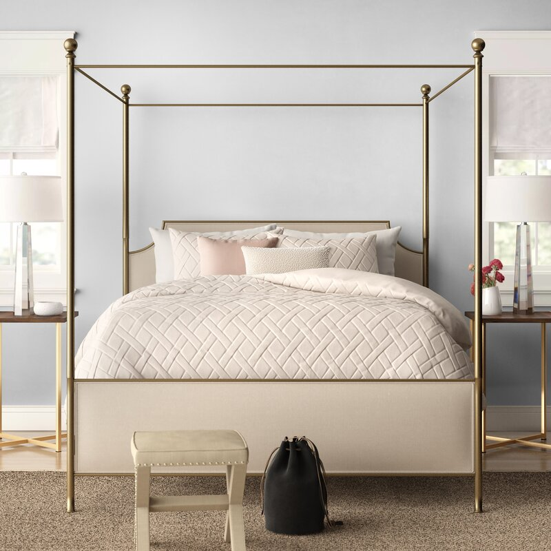 Canopy Bed.Willison Bedroom Collection Upholstered Canopy Bed Reviews