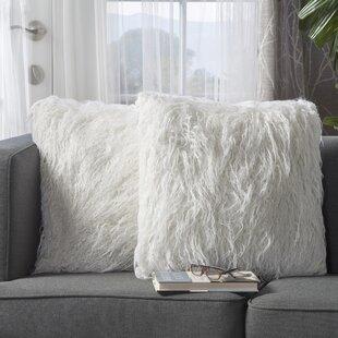 White Faux Fur Pouf | Wayfair