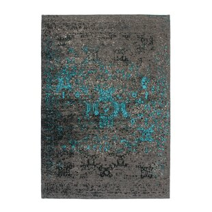 Cocoon 991 Handwoven Blue/Brown Rug by Lalee