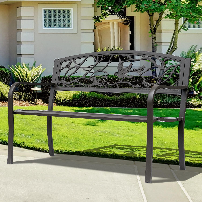 Madeline Vintage Bird Cast Iron Garden Bench