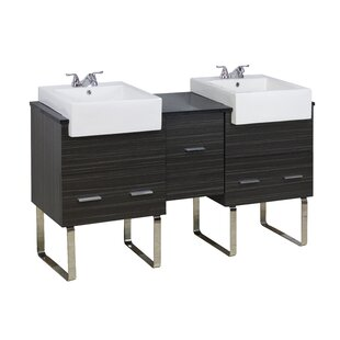 62 Double Modern Bathroom Vanity Set