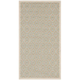 Armenta Cream Cream/Blue/Light Brown Indoor/Outdoor Area Rug