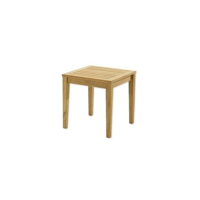 Maddux Grade A Sack Square Teak Side Table by Highland Dunes Purchase