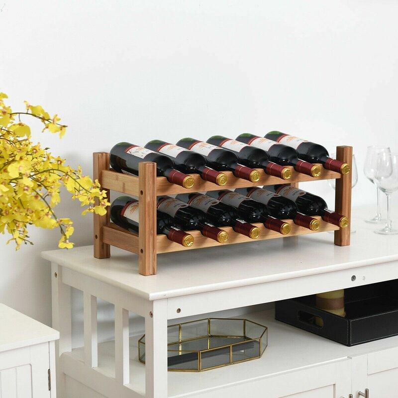 Latitude Run Tobia 12 Bottle Tabletop Wine Bottle Rack