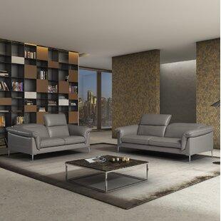 Orren Ellis France Leather Configurable Living Room Set