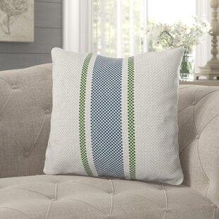 Farah Grain Sack Stripe Print Throw Pillow