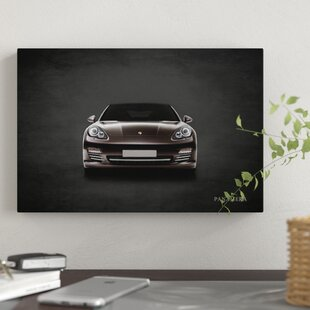 'Porsche Panamera' Graphic Art Print on Canvas By East Urban Home