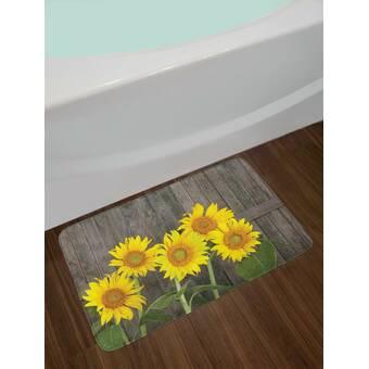 Caroline's Treasures Sunflowers Kitchen/Bath Mat & Reviews